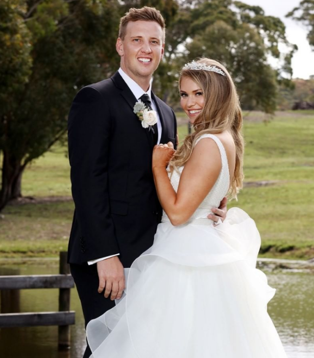 """**Georgia & Liam – Evidence is scarce** <br><br>  The second intruder couple, Georgia and Liam, also seemed chuffed with the experts' work, getting on like a house on fire. <br><br> It's undetermined whether or not these two go the distance. <br><br> After [photos of Georgia and other intruder Johnny](https://www.nowtolove.com.au/reality-tv/married-at-first-sight/mafs-partner-swap-67088