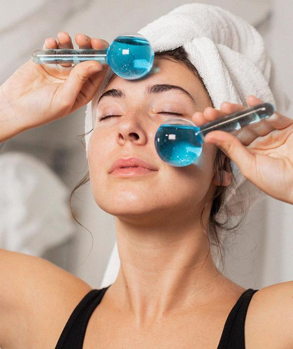 "**Aceology**<br><br> Facial massage and gem rollers have become a beauty bag staple in recent years thanks to their ability to improve circulation, relax muscles, tighten pores and relieve inflammation and redness. These globes from Aceology are not only cute – coming in a range of colours – but also have the added benefit of cooling, just keep them in the fridge or pop in some ice water before using. <br><br> ***Aceology Ice Globe Facial Massager, $64, [shop it here.](https://www.theiconic.com.au/ice-globe-facial-massager-1149617.html|target=""_blank"")***"