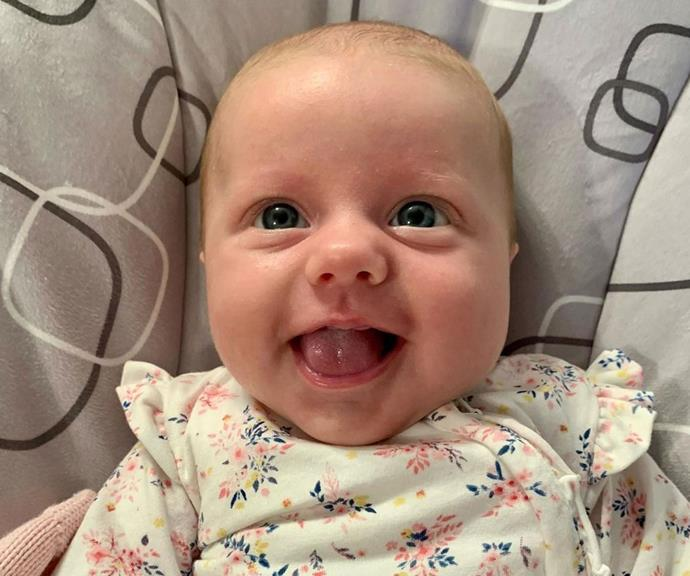 That face! Proud mum Chezzi shared this heart-melting new snap of Sunday.