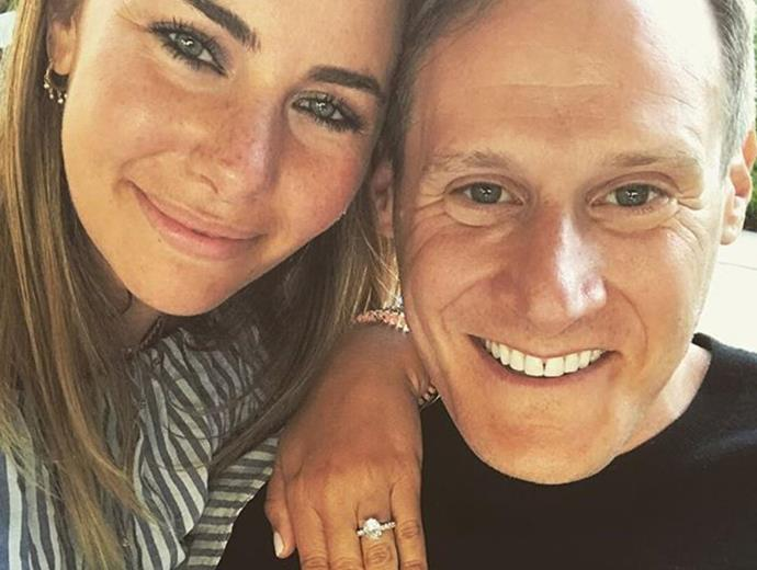 """[Trevor and Tracey announced their engagement](https://www.nowtolove.com.au/royals/british-royal-family/meghan-markles-ex-husband-48930
