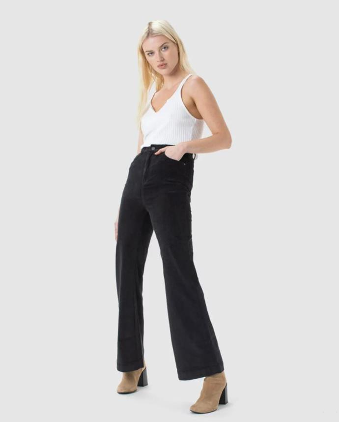 """Cools Club high rise flare, $139.95. **[Buy them online here](https://www.theiconic.com.au/high-rise-flare-1151090.html