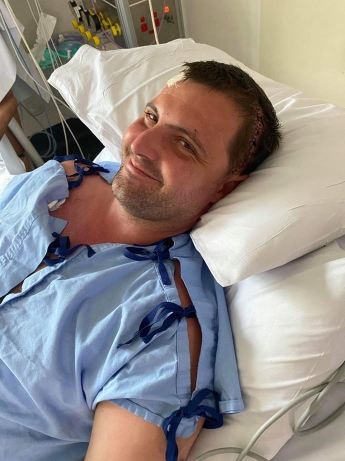 Matt after surgery