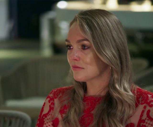 Melissa was in tears over Samantha's revelation.