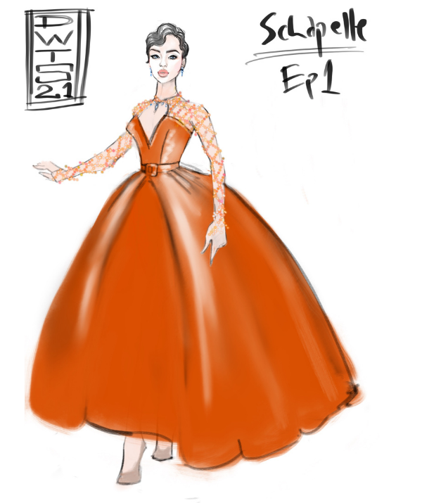 Schapelle's stunning first dance dress was designed by Academy Award-winner Tim Chappel.