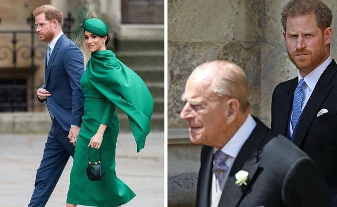 Prince Harry will attend Prince Philip's funeral in the UK next week, while his heavily pregnant wife, Duchess Meghan, will remain in LA with their young son Archie.