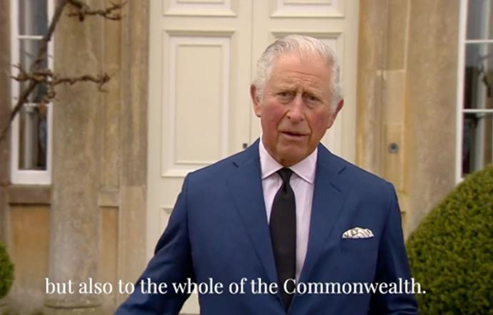 Prince Charles paid tribute to his late father from outside his Highgrove home.