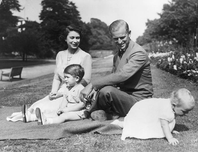 The young royal family was the ultimate image of family wholesomeness as the then Princess Elizabeth and her husband Prince Philip manoeuvred the world of parenting.