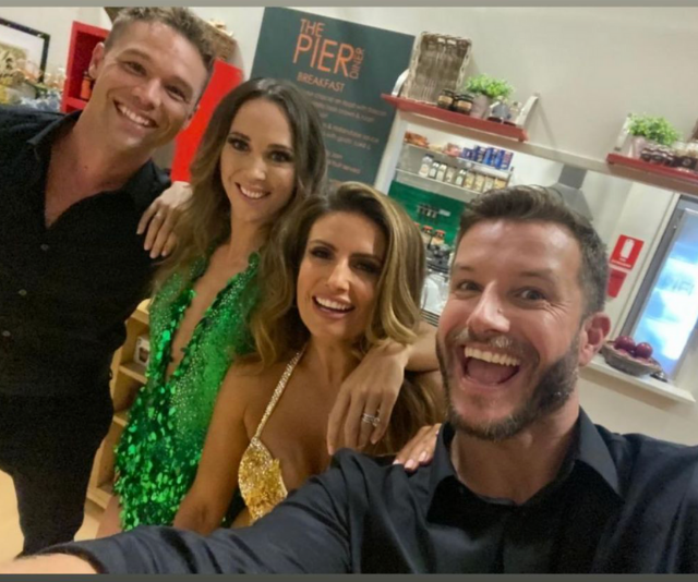Luke was thrilled to reunite with his *Home and Away* co-stars.