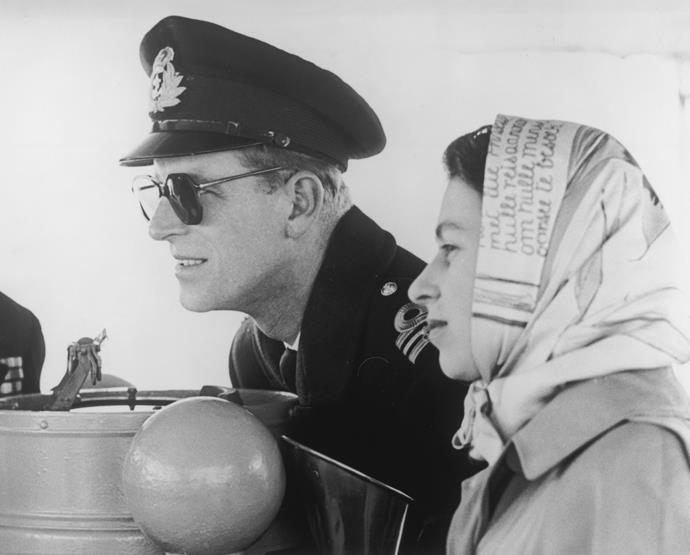 Ever the stylish royal, Philip's Commonwealth tour in 1951 included this cool sunglasses moments.