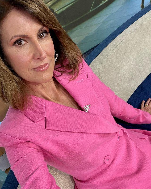 """Natalie shared this gorgeous pink power suit for a reason on February 19. """"It's 12 months since the beautiful, strong Hannah Clarke and her 3 little children were killed. Her parents want us to wear pink because it's the colour the murderer wouldn't let her wear,"""" Natalie penned on Instagram."""