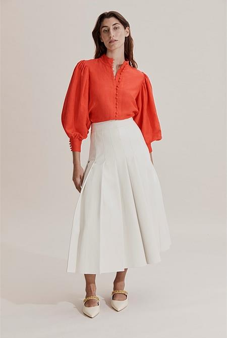 """Country Road puff sleeve blouse, $159. **[Buy it online here](https://www.countryroad.com.au/puff-sleeve-blouse-60262652-6191
