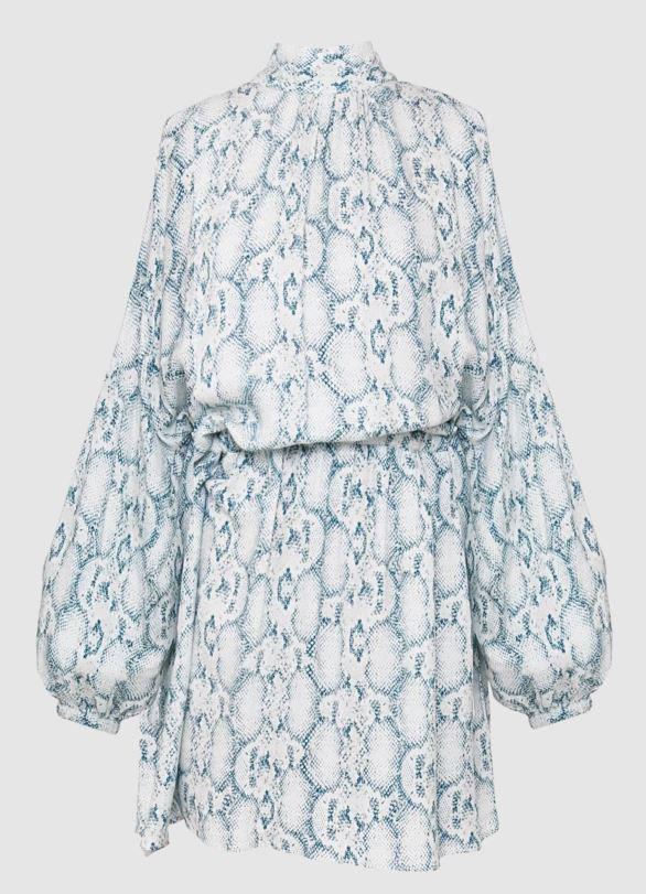 "Ginger & Smart charm mini dress, $150 (on sale). **[Buy it online here](https://www.gingerandsmart.com/products/charm-mini-dress|target=""_blank""|rel=""nofollow"")**"