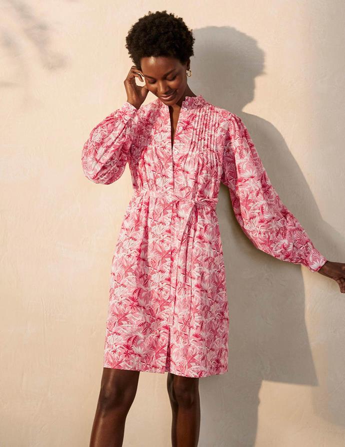 "Boden Atonia cotton shirt dress, $170. **[Buy it online here](https://www.bodenclothing.com.au/en-au/antonia-cotton-shirt-dress-azalea-tropical-palm/sty-w0765-mpk?cat=C1_S2_G4|target=""_blank""|rel=""nofollow"")**"