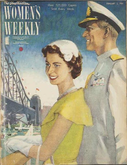 The front cover of The Australian Women's Weekly in 1954 show the young royals on one of their first big royal tours.