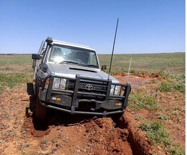 Bogged! It was all part of the adventure.