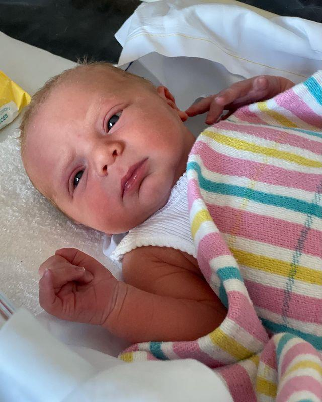 Henry George was welcomed to the world at the beginning of April - with his proud parents Sylvia and Peter instantly falling in love with their newborn.