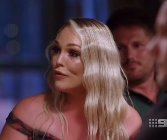 Melissa told her fellow MAFS stars to back off at the reunion dinner party.