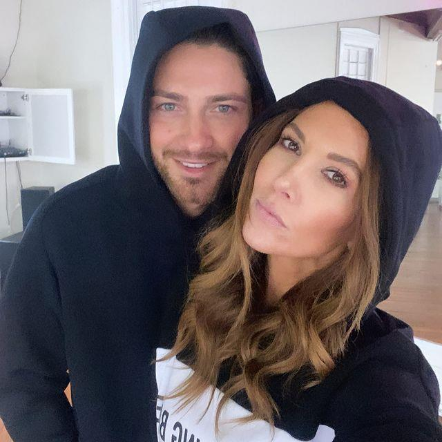 Kyly with her dance partner, Gustavo Viglio.