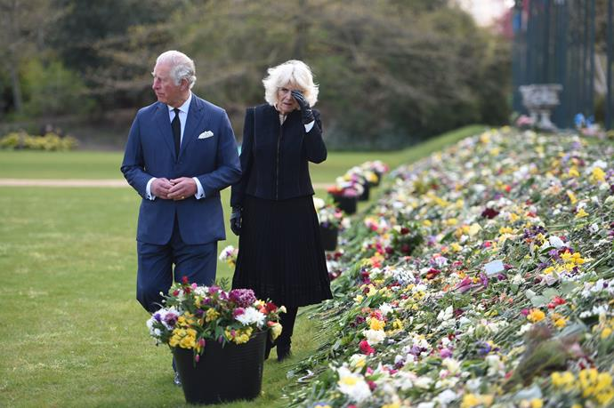 Charles and Camilla were visibly moved by the tributes.