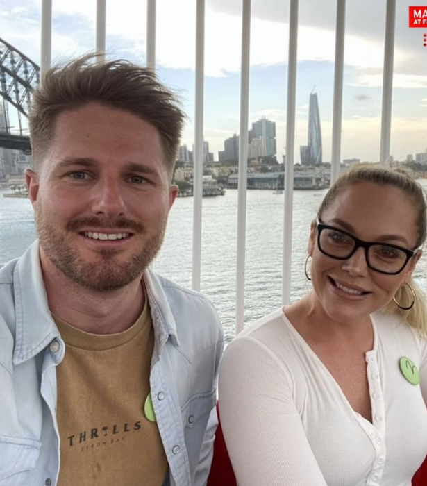 The couple took time out from filming to see the sights of Sydney.