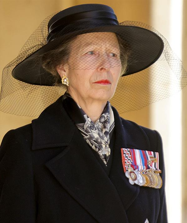A usually stoic Princess Anne appeared rather crestfallen.