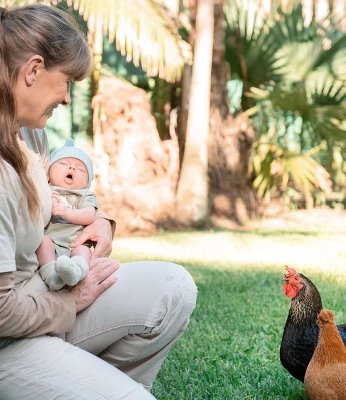 Terri Irwin bonding with her granddaughter, Grace.