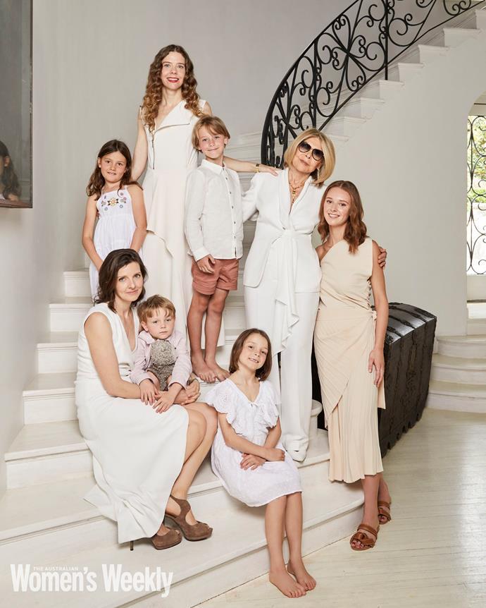 Allegra, Bianca and Brigid wear Bianca Spender. Carla wears Carla Zampatti. The children wear Seed and Cotton On Kids.