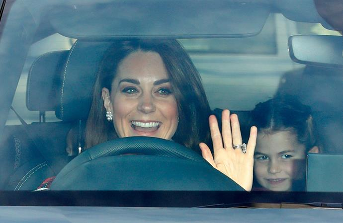 Kate (pictured here in 2019) and the kids were spotted shopping at popular stationary store, Smiggle.