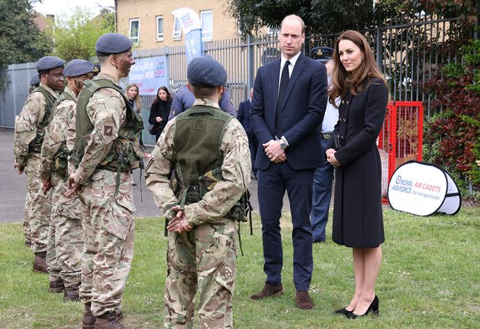 The Duke and Duchess visited the Air Training Corps in East London.