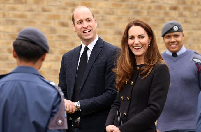 William and Kate honoured Prince Philip with their visit to see the Air Cadets.