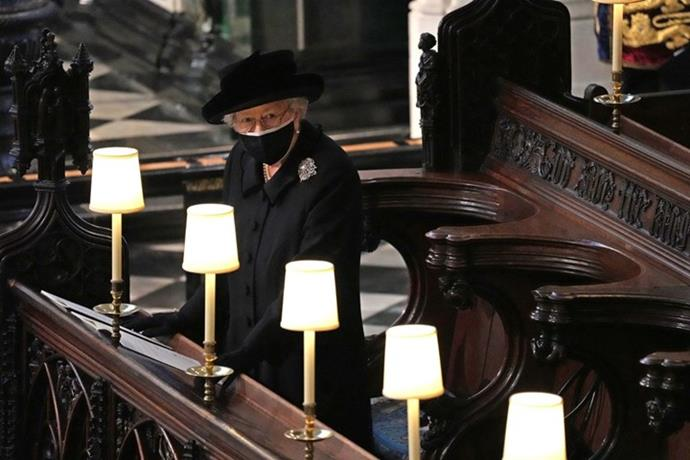 The Queen paid tribute to her husband with special touches to her outfit.