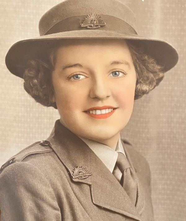 Coral joined the Australian Women's Army Service in 1943.