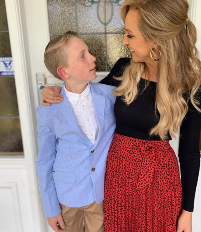 Carrie and her son, Ollie.