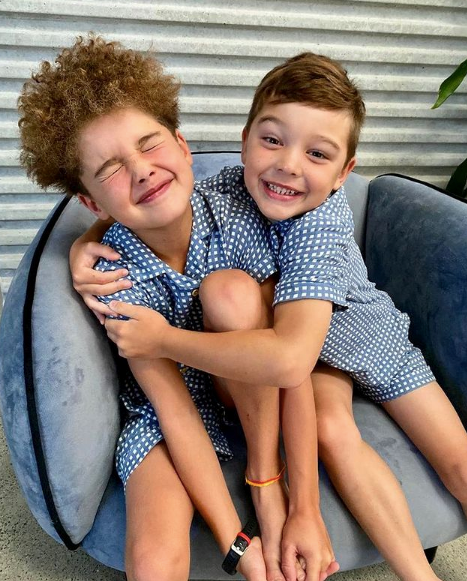 Raising her two boys has been a true joy for Jules.