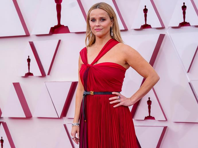 Reese Witherspoon was ravishing in red.