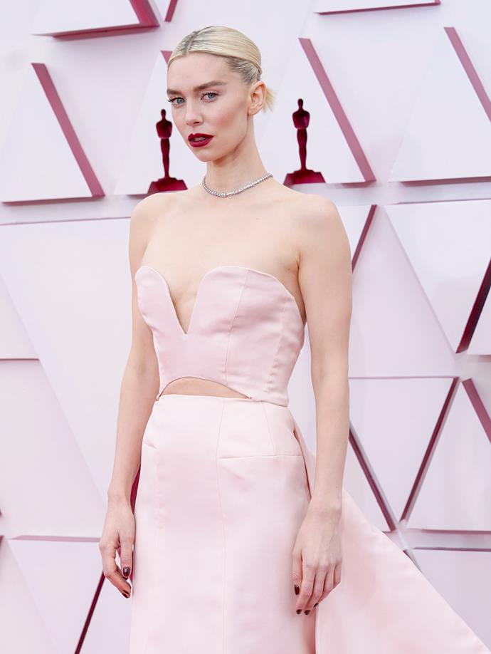 *The Crown*'s Vanessa Kirby looked beautiful in pale pink.
