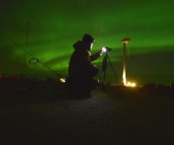 The lights in Antarctica are a real sight.