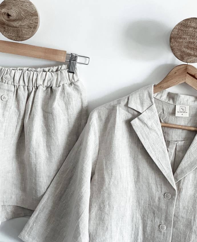 """The Good Gift Co. not only reign from rural NSW (Tamworth to be exact), but each of their products are carefully made within Australia - and the quality? Oh it's *good*. Their linen loungewear set is perfect for around-the-house-moosying or Mum could even mix and match it with a cute sweater or jeans. Winner winner! $150. **[Buy the set online via Buy From The Bush here](https://www.buyfromthebush.com.au/a/lounge-sets/the-good-gift-co/linen-loungewear-set-button-up-natural-linen/100073287?variant_id=181759