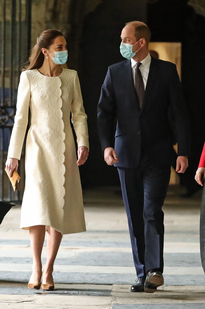 William and Kate's London residence will showcase the incredible garment.