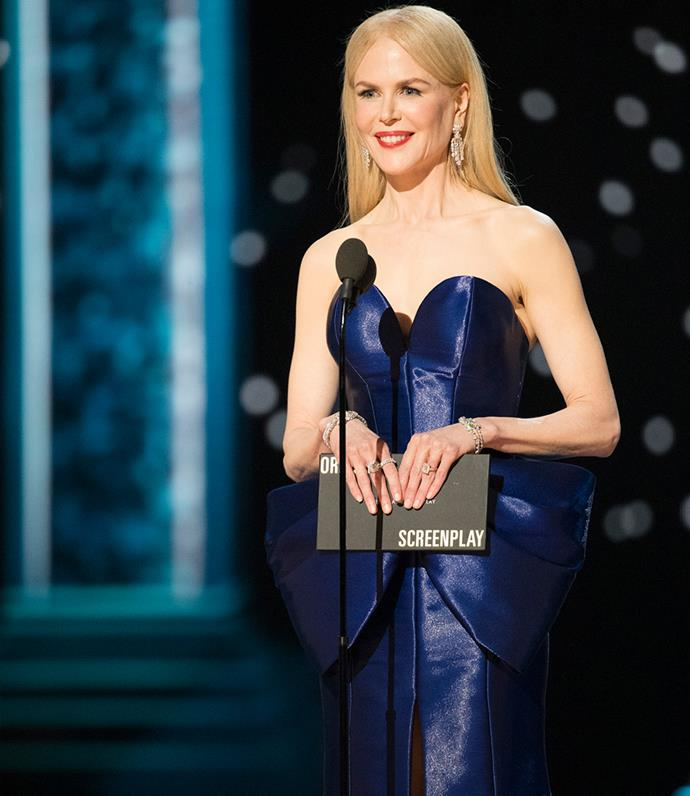 Nicole presenting at the 2019 Oscars.