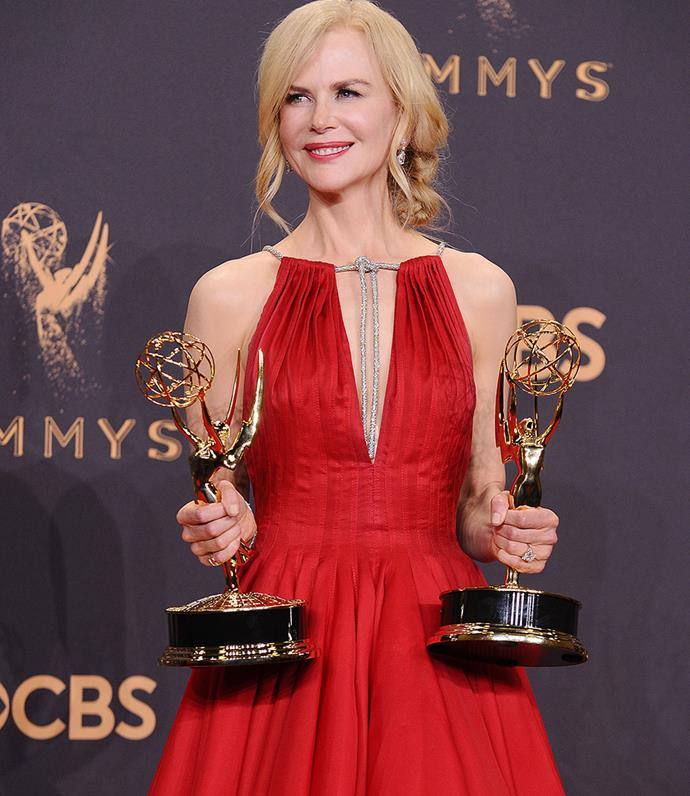 Nicole and her Emmy awards.