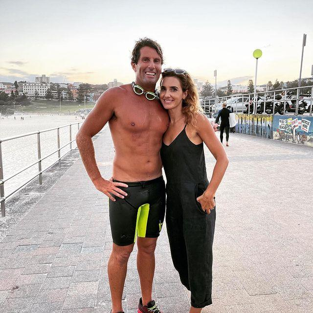 **Anthony 'Harries' Carroll's wife, Emily Carroll** <br><br> Anthony and Emily are a true Bondi It-Couple. While Anthony works the sands, Emily works the core... literally. She's a Pilates instructor, sharing her skills, tips and business ventutres with her strong following on Instagram.