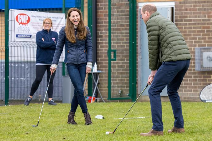 The Duke and Duchess were joyful during the days activities.