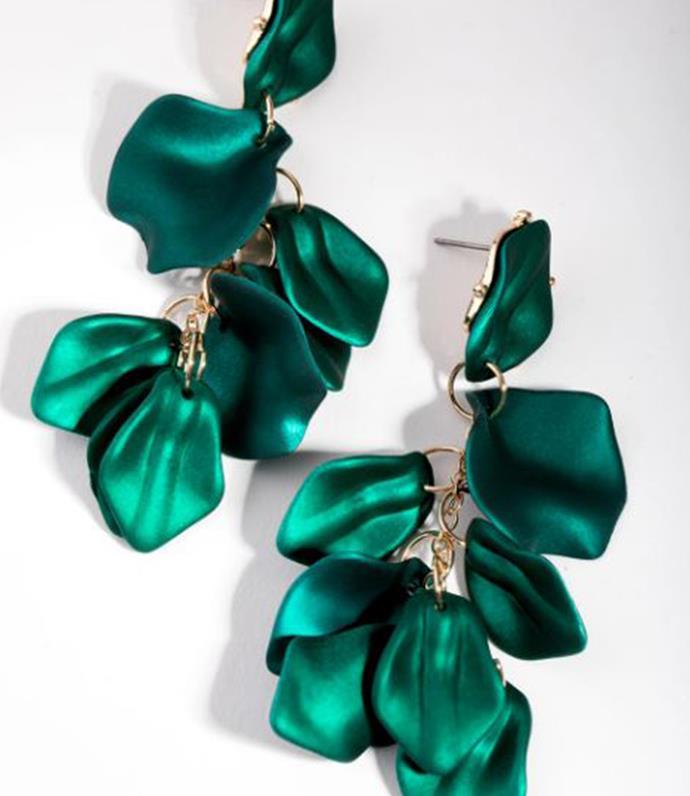 "[Matte Coated Petal Drop Earrings, $22.99](https://www.lovisa.com.au/products/midn-cm-coated-petal-drp-er-3|target=""_blank"")"