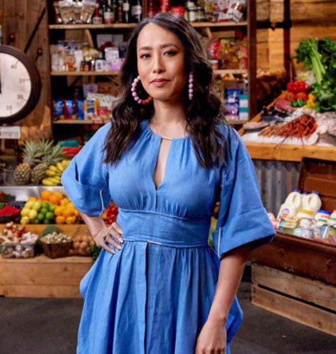 **Gorman**   Gorman is a brand Melissa has worn a lot during her hosting duties on MasterChef, however, her earrings from the brand are the real show stoppers.  Especially, these ones pictures which were masterfully paired with a blue dress.