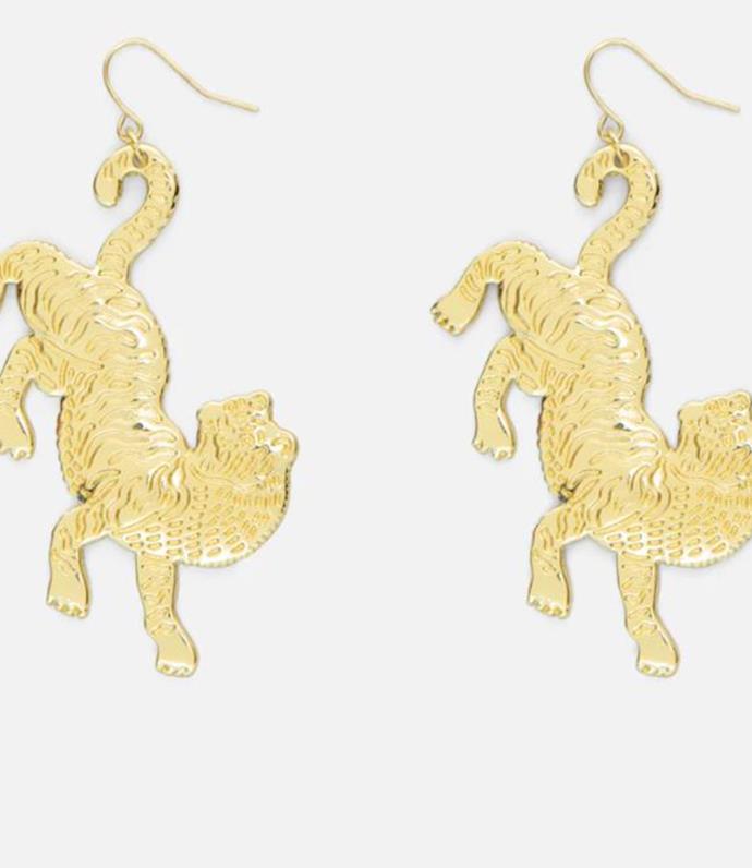 "[Tiger Queen Earrings, $39.00](https://www.gormanshop.com.au/tiger-queen-earrings.html|target=""_blank"")"
