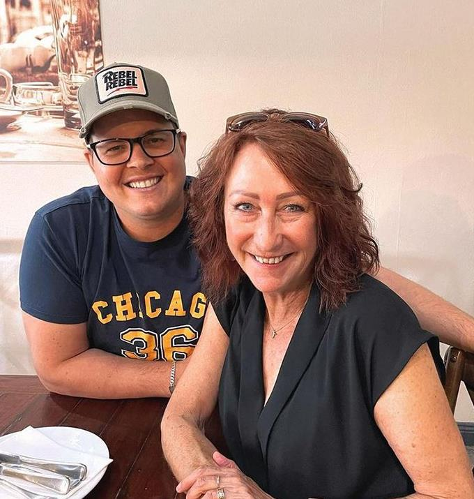 Johnny Russo with former Home and Away co-star Lynne McGranger.