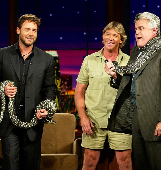 Russell Crowe could possibly play Steve Irwin in the biopic.