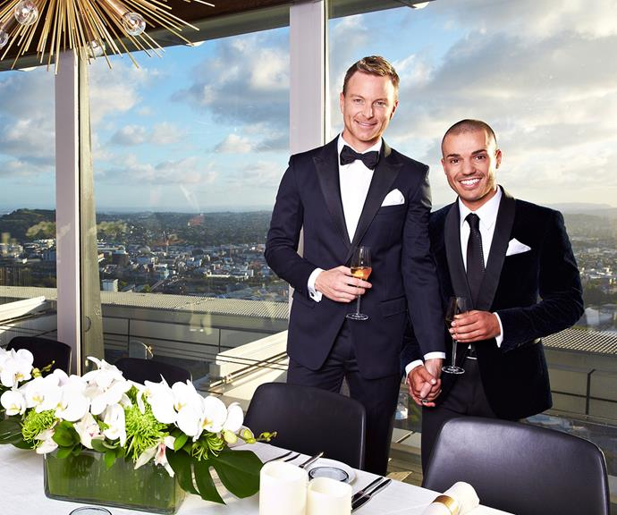 Tim and Anthony on their wedding day in New Zealand in 2014.