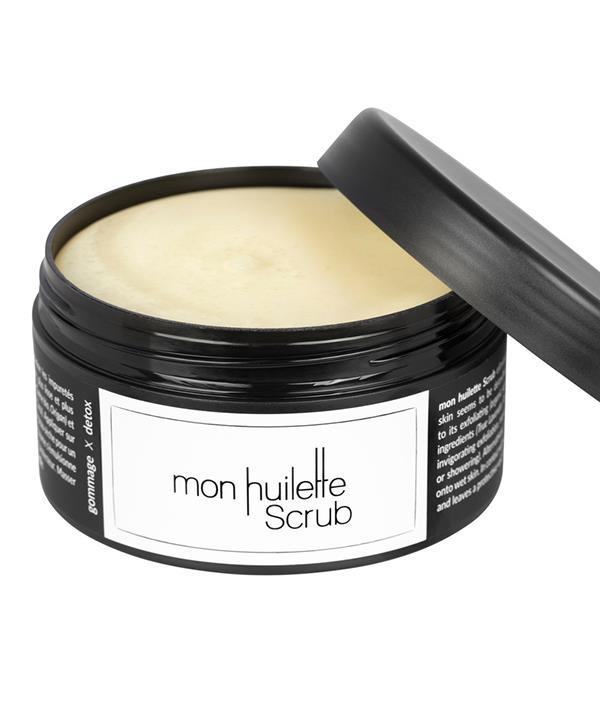 "Les Huilettes Mon Huilette Scrub Bio Balm, $90, [shop it here](https://bondcleanbeauty.com/product/mon-huilette-scrub/|target=""_blank"")"